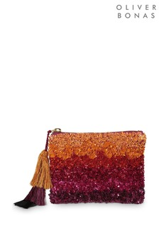 Oliver Bonas Pink Ombre Mini Pouch