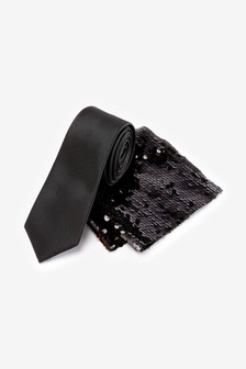 2 Way Sequin Pocket Square