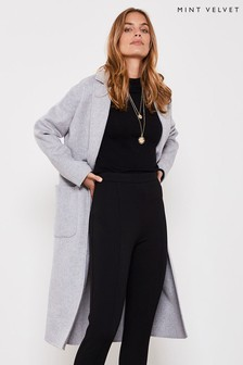 Mint Velvet Silver Grey Split Seam Coat