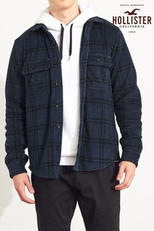 Hollister Navy Check Flannel Shirt