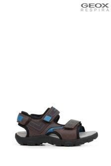 Geox Boy's Strada Brown Sandals