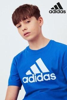 adidas Blue Logo T-Shirt