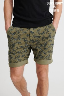 Superdry Olive Print Chino Shorts