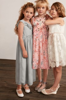 Asymmetric Maxi Corsage Dress (3-16yrs)