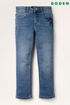 Niebieskie elastyczne jeansy o wąskim kroju Boden Adventure