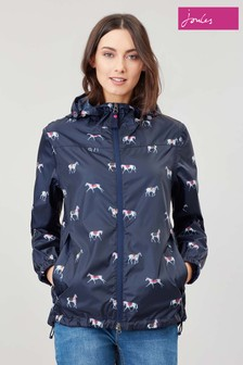 Joules Blue Meadley Equestrian Packaway Jacket