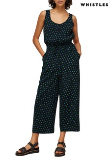Whistles Black Ikat Jumpsuit