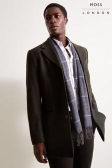 Moss London Slim Fit Dark Green Overcoat Single Breasted Jacket