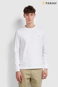Farah Worth Long Sleeved T-Shirt With Chest Placement Embroidered Logo