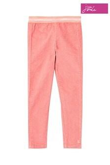 Joules Pink Callen Fabric Interest Leggings