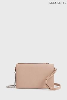 AllSaints Nude Leather Fetch Multiway Crossbody Bag