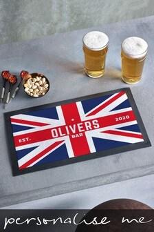 Personalised Union Jack Bar Mat