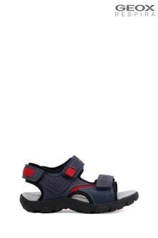 Geox Boy's Strada Blue Sandals