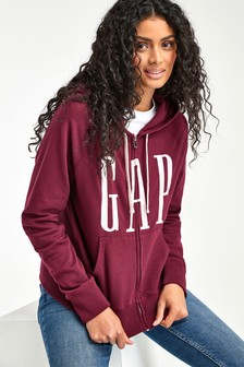 Gap Dark Red Logo Hoody