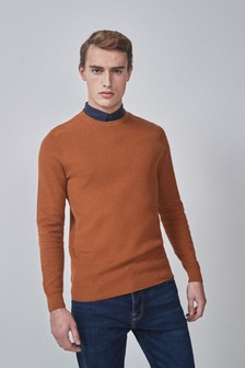 Mock Shirt Crew Jumper