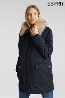 Esprit Blue Outdoor Jacket Parka
