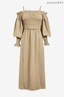 AllSaints Sand Lary Cold Shoulder Dress