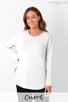 Live Unlimited Curve White Pocket T-Shirt