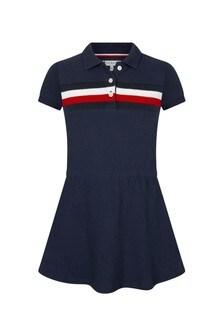 Tommy Hilfiger Navy Cotton Dress