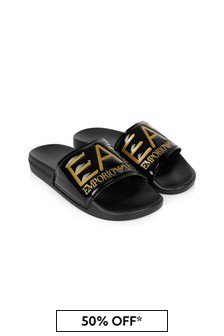 EA7 Emporio Armani Boys Black Sandals