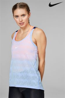Nike Blue Jacquard Elastika Tank