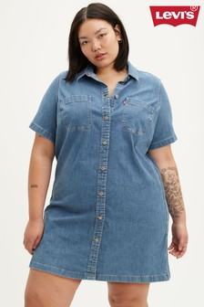 Levi's® Plus Blue Andie Dress