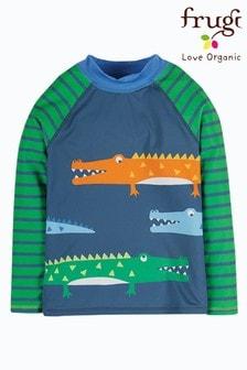 Frugi UPF50+ Rash Vest Navy Crocodiles