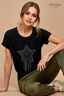 Sonder Studio Black Chain Star T-Shirt