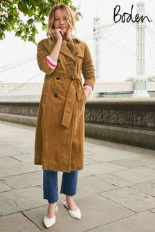Boden Brown Markham Cord Trench Coat