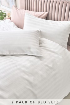 2 Pack 200 Thread Count Cotton Duvet Cover And Pillowcase Set
