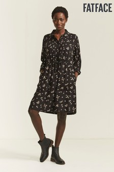 FatFace Black Madagan Floating Bloom Dress