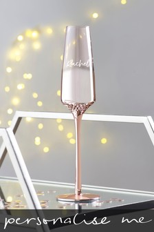 Personalised Rose Gold Champagne Flute