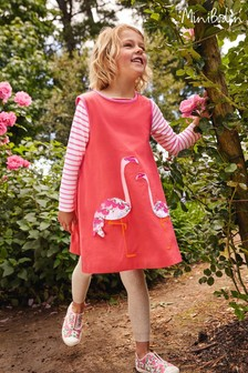 Mini Boden Pink Retro Appliqué Jersey Dress