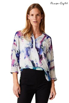 Phase Eight Cream Selima Printed Blouse