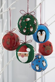 6 Pack Character Baubles
