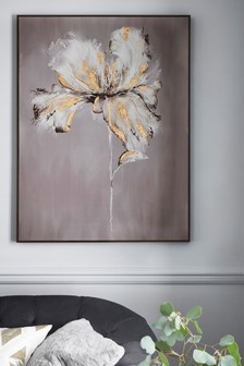 Extra Large Champagne Floral Canvas