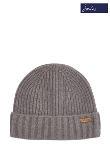 Joules Grey Bamburgh Knitted Hat