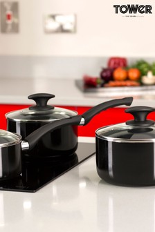 3 Piece Ceramic Pan Set by Tower