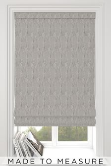 Monroe Pewter Grey Made To Measure Roman Blind