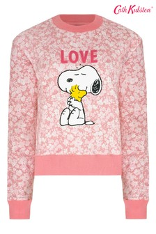 Cath Kidston® Snoopy Pink Cropped Sweat Top