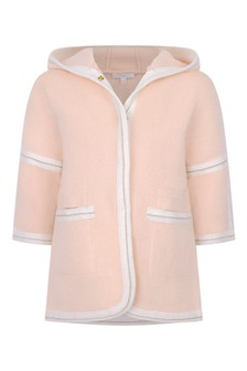 Baby Girls Pink Cotton & Wool Knitted Jacket