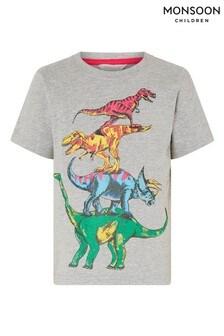 Monsoon Grey Rufus Dinosaur T-Shirt