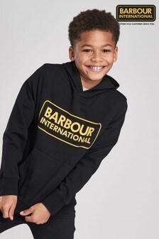 Barbour® International Black Logo Hoody