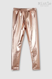 Mintie by Mint Velvet Rose Gold Leggings