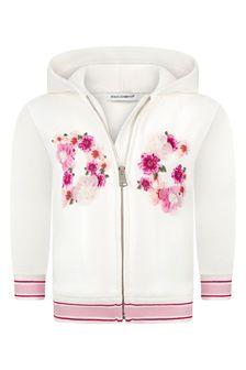 Dolce & Gabbana Kids Dolce & Gabbana Baby Girls Pink Cotton Hoody