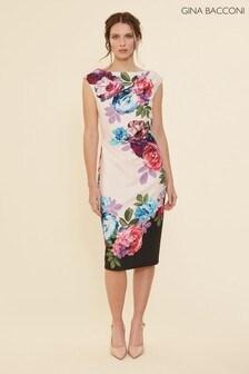 Gina Bacconi Pink Mirna Floral Dress