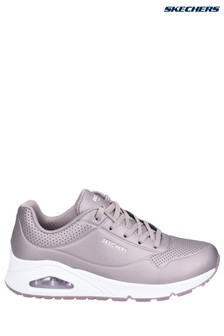 Skechers® Pewter Uno-Rose Bold Trainers
