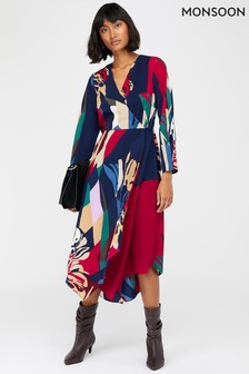 Monsoon Blue Nalani Print Midi Dress
