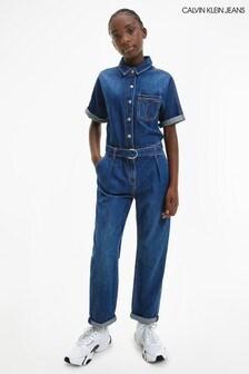 Calvin Klein Jeans Blue Denim Jumpsuit