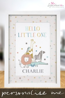 Personalised Hello Little One A4 Framed Print by Signature PG